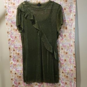 Green glitter dress-size XL